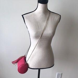 Pink crossbody bag